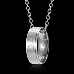 Jewelry - New🧔Dad Engraved Ring Fashion Necklace